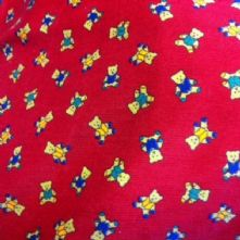 Red Teddies Corduroy Fabric